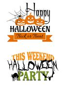 Two halloween designs Stock Illustration