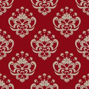 Decorative floral seamless pattern Stock Illustration