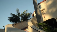 Mission Style hotel building in Santa Barbara, California - stock footage