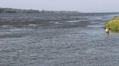 The estuary of the River Vistula to the Baltic Sea Stock Footage