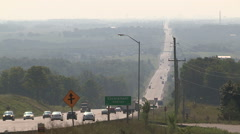 Heavy smog and haze over Caledon Ontario on hot summer day Stock Footage