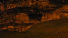 Cave-tombs of   King Herod relatives in the Old City at night. Jerusalem. Israel - stock footage
