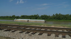 Vicksburg Barge Stock Footage