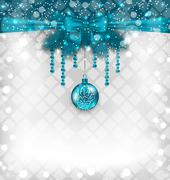 shimmering background with christmas traditional elements - stock illustration