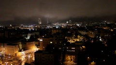 Contemporary Western Jerusalem at winter night . Israel Stock Footage