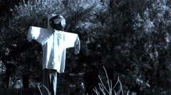 Zombie ghost scarecrow 4k Stock Footage
