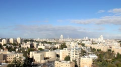 Contemporary Western Jerusalem at winter Stock Footage