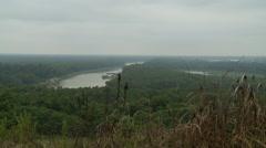 Mississippi River from Vicksburg Battlefield Stock Footage