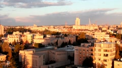 """Contemporary Western Jerusalem at winter with  """"Harp of David Bridge""""  in the re Stock Footage"""