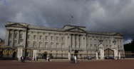 Stock Video Footage of UHD 4K Buckingham Palace London People Passing Crowd Walking Tourists Visit