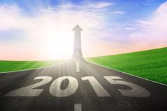 road to future 2015 - stock illustration