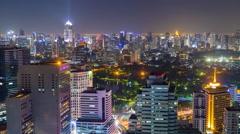 Bangkok skyline at night. Stock Footage