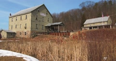 An old mill in rural Pennsylvania. Stock Footage