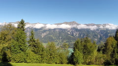 "Aerial Footage of the Bernese Oberland and lake ""Brienz"" Stock Footage"