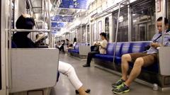 Subway system inTokyo city 2014 Stock Footage