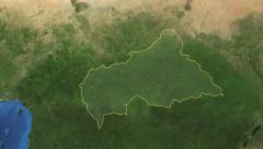 Central African Republic. Zoom in on Central African Republic contoured 4k Stock Footage