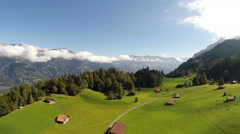 Aerial Footage of the bernese oberland in Switzerland Stock Footage