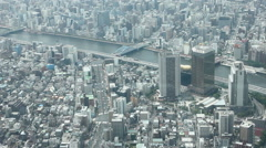 Tokyo city, on the banks of river Sumida,  2014 (11) Stock Footage