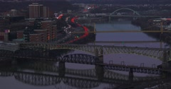 Pittsburgh, PA at night. Stock Footage