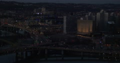Pittsburgh, PA at night. - stock footage