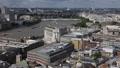 London Eye Skyline Aerial View Rooftop Panorama Urban Scene Architecture Ship UK Footage