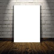 Blank poster as copy space template for your design Stock Photos