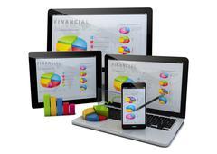 finances devices - stock illustration