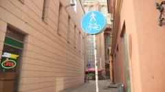 Pedestrian path symbols Stock Footage