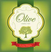 Olive tree. Olive oil. Stock Illustration