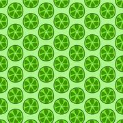 Seamless doodle lime pattern Stock Illustration