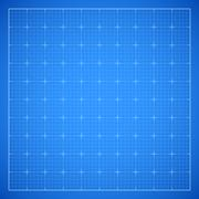 Blue square grid blueprint Stock Illustration