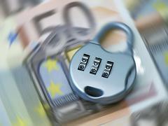 secure euro - stock photo