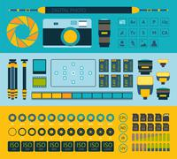 Photo infographics set, part one Stock Illustration
