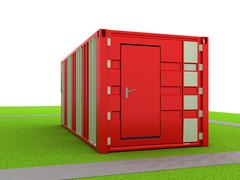 Stock Illustration of cargo container