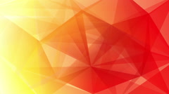 Abstract triangle geometrical red background loop Stock Footage