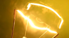 Electric Tungsten Bulb glowing Close up Stock Footage