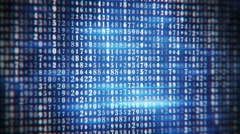Blue numbers on monitor seamless loop Stock Footage