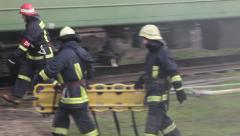 Train disaster Stock Footage