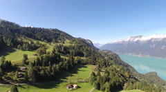 Aerial Footage of the bernese oberland in Switzerland - stock footage