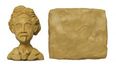 Animation bust of Einstein with the surface for titles. Stock Footage