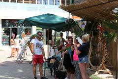 Stock Photo of sunny beach, bulgaria - august 29: people visit  sunny beach on august 29, 20