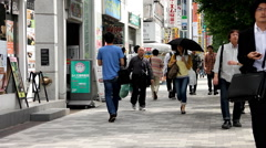 Sidewalk in Akihabara, Tokyo city 2014 (28) Stock Footage