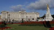 Stock Video Footage of London Landmark Buckingham Palace Victoria Memorial Elizabeth Queen Home England