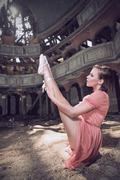 Ballet dancer posing on theatre Kuvituskuvat