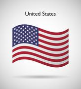 United states of america flag Stock Illustration