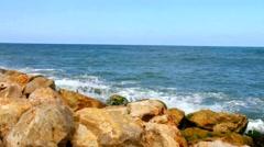 Waves of the Mediterranean Sea - stock footage