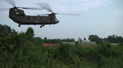 CH-47 Chinook helicopter  Slingload Stock Footage