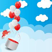 Color Glossy Balloons Background Vector Illustration Stock Illustration