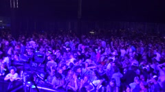 View from the stage at a music concert Stock Footage