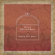 Retro christmas background Stock Illustration